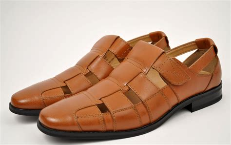 la s cognac genuine leather dress sandals shoes