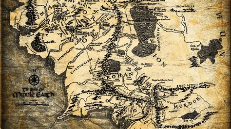 lotr map lord of the rings map wallpapers wallpaper cave