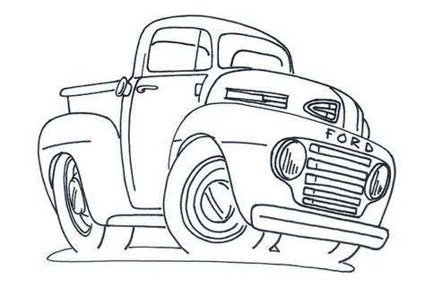 Fabulous Images Of Hot Rod Coloring Pages With Ford Rod Coloring Pages