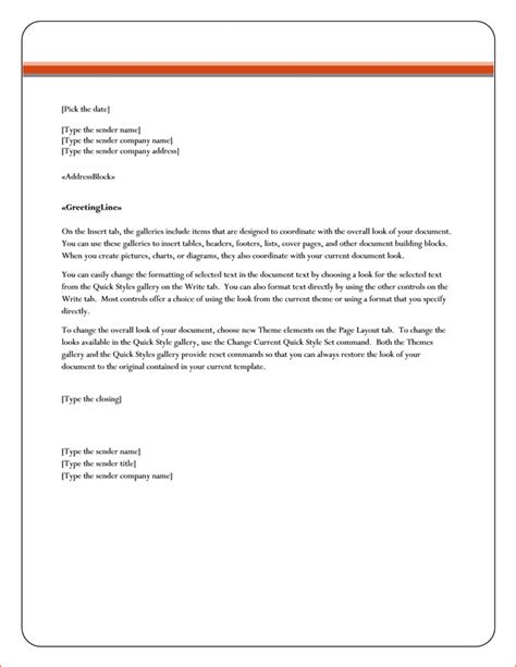 8 Microsoft Word Business Letter Template Memo Formats Free Letter Template In Word