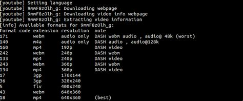 audio format youtube dl youtube dl download youtube videos from linux command line