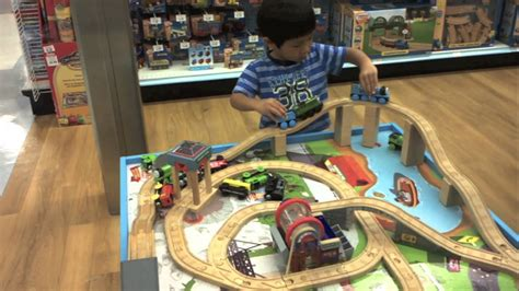thomas  train wooden railway table playset  toys