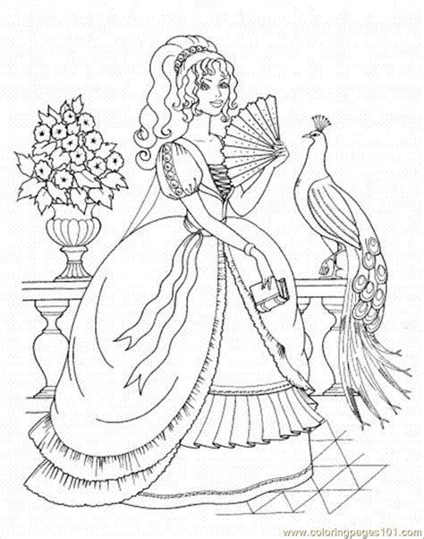 Beautiful Princess Coloring Pages coloring pages beautiful princess peoples gt royal family