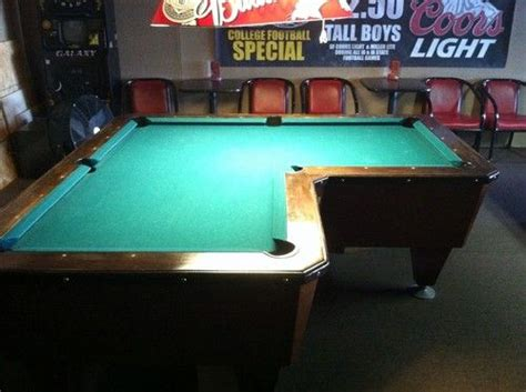 l shaped pool table l shaped pool table coin operated pool balls included