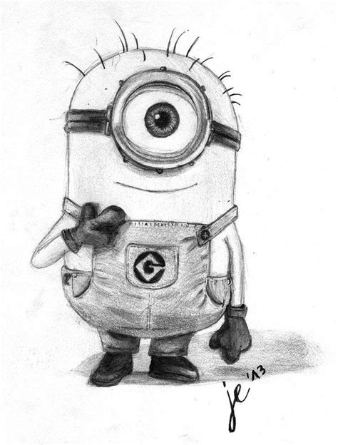 25 best ideas about minion drawing on awesome drawings drawing sketches and my