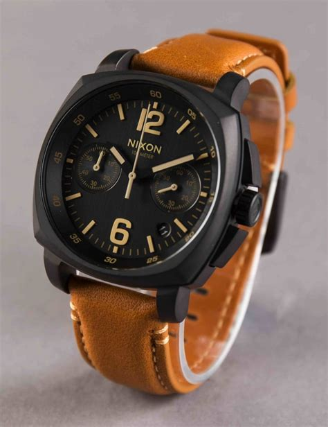 charger chrono leather all black light brown accessories from buddha store uk