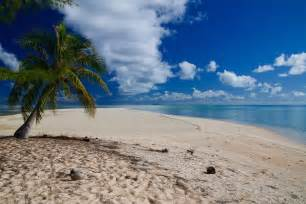 Dream white sand beach and clear blue sea on paradise tropical island