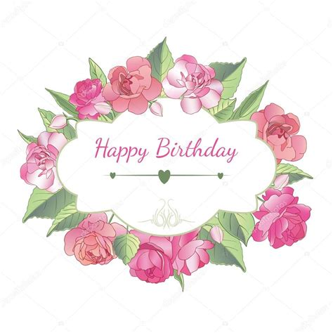 cartoline buon compleanno con fiori cartolina di buon compleanno con i fiori balsamo