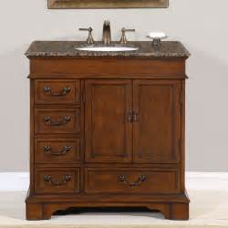 Bathroom Vanity Cabinets 36 Perfecta Pa 135 Bathroom Vanity Single Sink Cabinet Chestnut Finish Granite