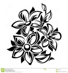 Flowers Black White Ornament Vector Illustration Stock Vector Image 49892174