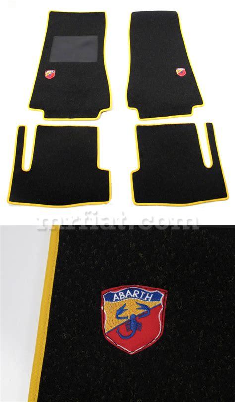 fiat 124 spider abarth yellow floor mats new ebay
