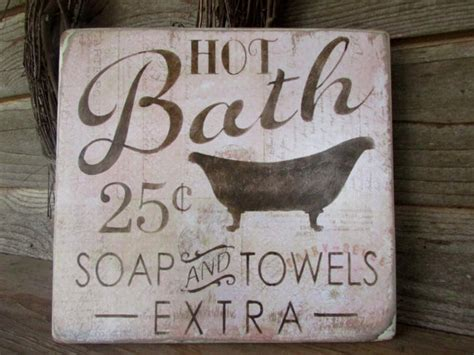 bathroom decor wood signs country home decor home decor