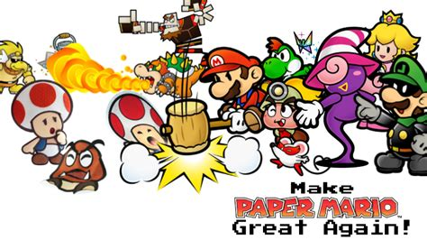 How To Make Paper Mario - make paper mario great again by kingbilly97 on deviantart