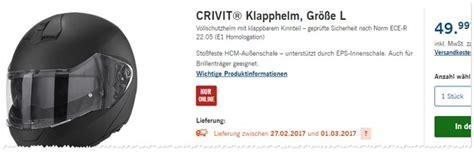 Motorradhelme Lidl by Crivit Motorradhelm Als Lidl Angebot Ab 15 2 2016