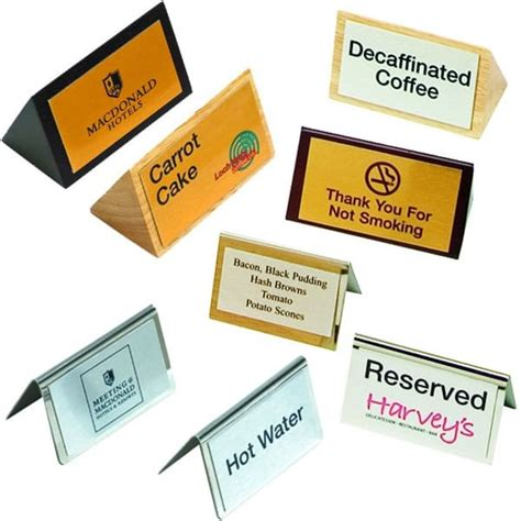 Table Signs by Metal Or Wooden Table Signs Foremost Products