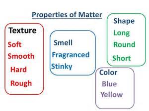 3 properties of color properties of matter