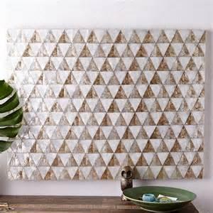capiz home decor capiz wall art triangle west elm