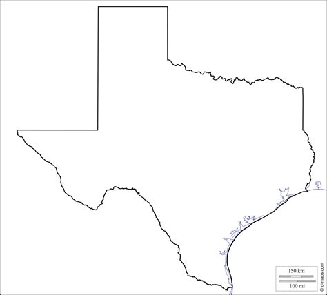 texas map blank free coloring pages of map of texas