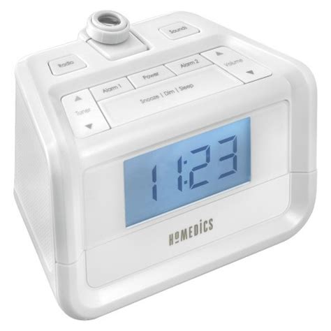 homedics 174 soundspa 174 digital fm clock radio with time projection target