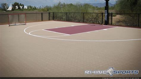 backyard basketball half court multi sport backyard court system synlawn photo gallery