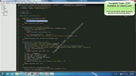node js tutorial udemy دانلود udemy a simple node js mongo restify api in less