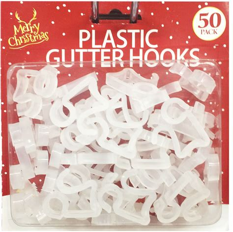 plastic christmas light clips gutter hooks clips outdoor christmas icicle fairy