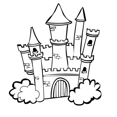 coloring page castle free outline of coloring pages