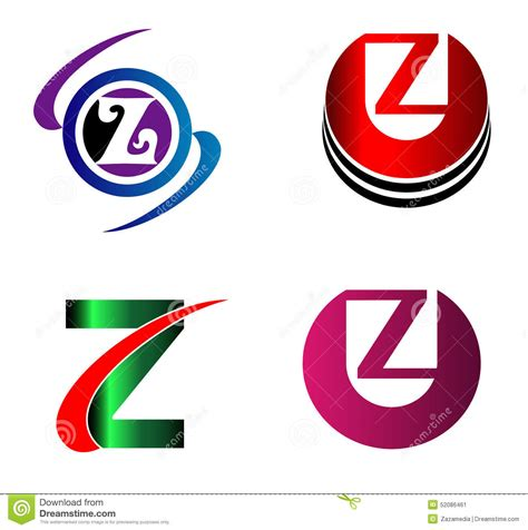 z pattern graphic design letter z logo icons set vector graphic design stock vector