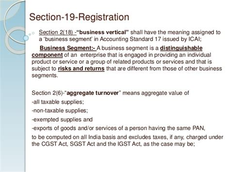section 17 registration act registration payment procedures under model gst law