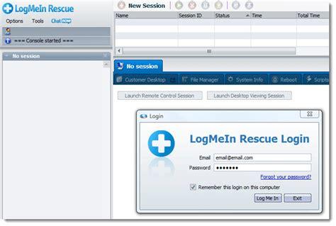 logmein console logmein rescue