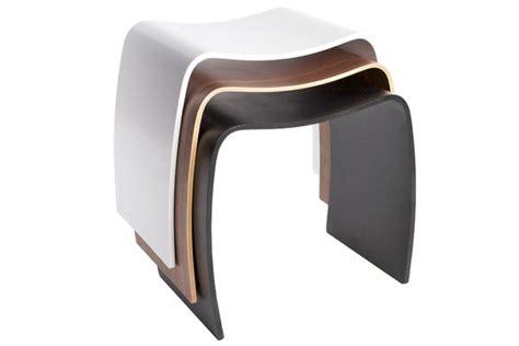 Tabouret Bas Design by Tabouret Bas Design Mooble Blanc Empilable