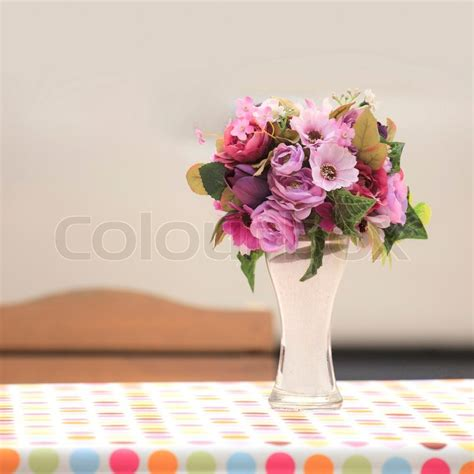 Flower Vase Table by Flower Vase On The Table Stock Photo Colourbox