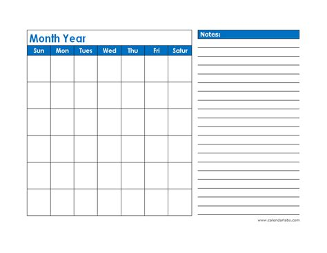 monthly blank calendar  blue shade  printable templates