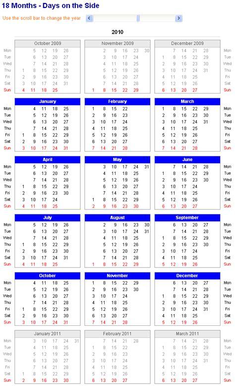 18 month calendar template excel calendar 18 month calendar template 2016 calendar