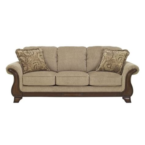 ashley fabric sofa ashley lanett fabric sofa in barley 4490038