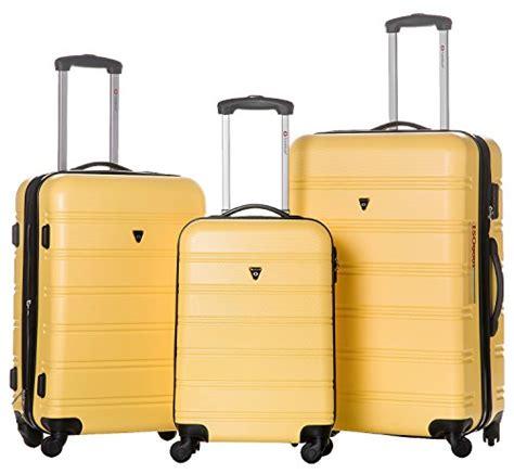 amazon com hybrid travel 3 piece luggage set durable lightweight merax travelhouse luggage 3 piece expandable spinner set