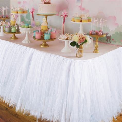 How To Make Decorations by Aliexpress Buy Wedding Tulle Tutu Table Skirt