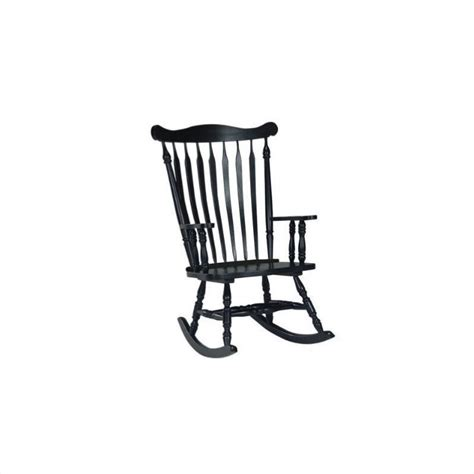 antique black wooden rocking chair solid wood rocking chair in antique black r37 120