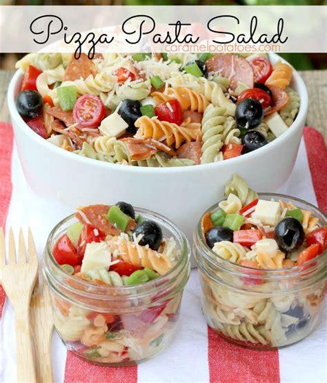 yummy pasta salad pizza pasta salad