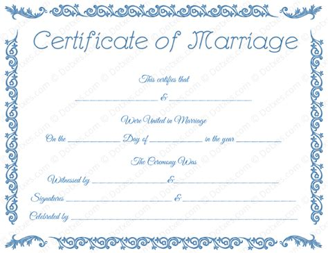 blank marriage certificate template printable marriage certificate template dotxes