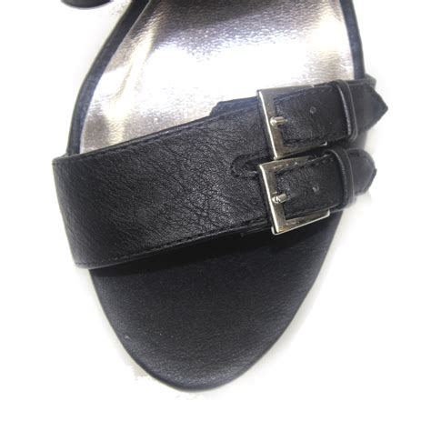 Faux Leather High Heel Sandals s adjustable faux leather strappy casual chunky high