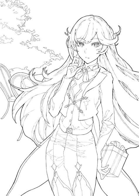 honkai impact   art coloring captains ai chan