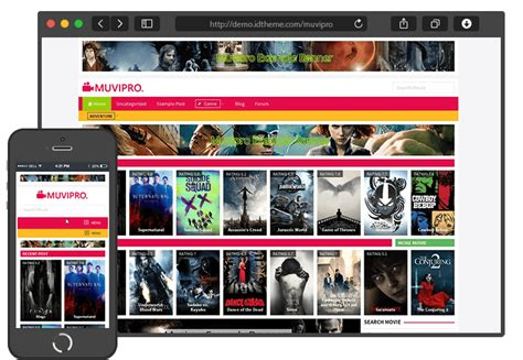 membuat website streaming film theme mirip lk21 muvipro movie wordpress theme nulled