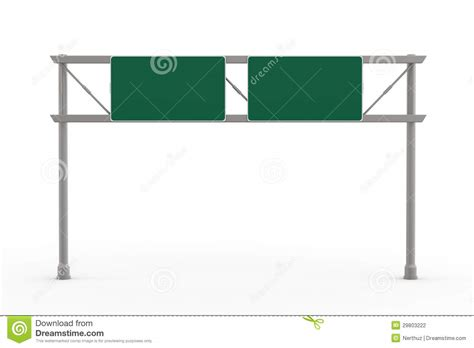 freeway templates green blank freeway sign stock photography image 29803222