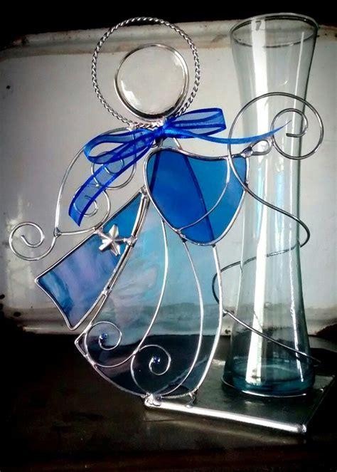 centro de mesa florero grande de vitral laton recuerdo 185 00 en mercado libre angeles de vitral centro de mesa floreros recuerdos bautizo 145 00 en mercado libre