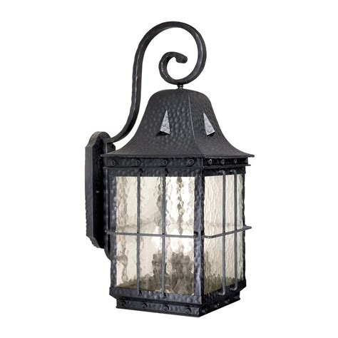 Outdoor Shop Lighting Shop Cascadia Lighting Edinburgh 27 In H Textured Black Outdoor Wall Light At Lowes