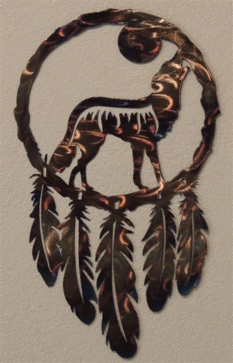 Southwestern Home Designs by Call Of The Wild Wolf Dream Catcher Reflections In Metal