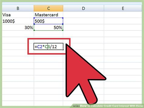 Excel Formula To Calculate Credit Card Interest 3 Ways To Calculate Credit Card Interest With Excel Wikihow