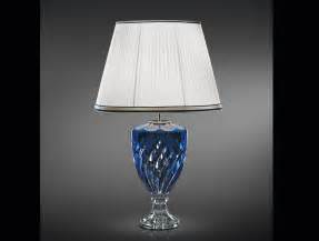 Transitional Crystal Chandeliers Nella Vetrina Italamp 8078 G Modern Table Lamp In Blue Crystal