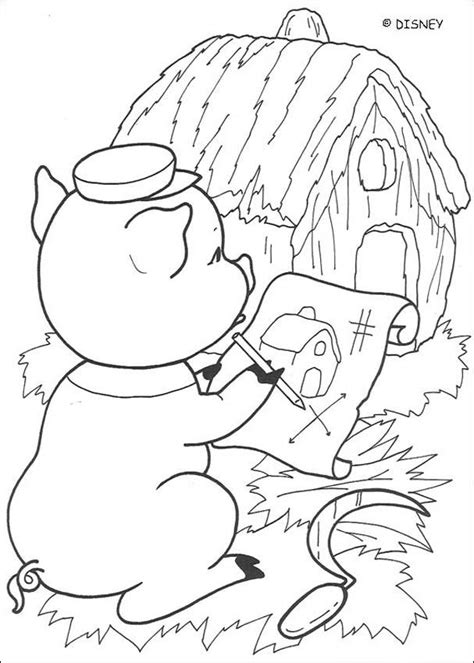 imagenes no realistas artes visuales para dibujar dibujos para colorear la casita de paja es hellokids com